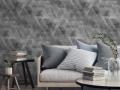 Mock up poster, Scandinavian living room concept design, 3d rend